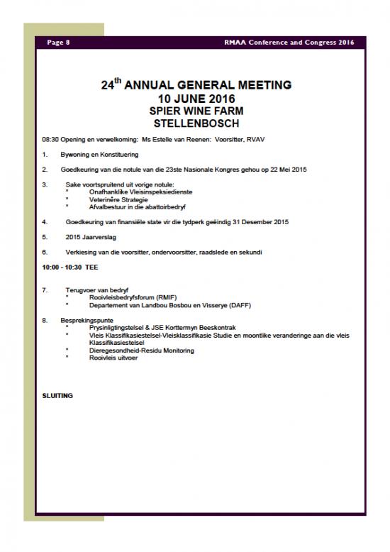 RMAA Conference 8