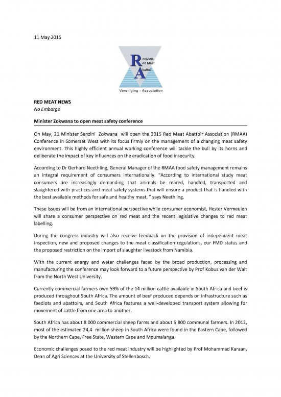 Minister Zokwana to open safe meat conference  COMBINED - 11  May 2015_Page_1