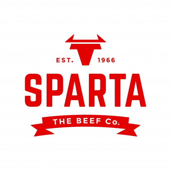 sparta logo red on white