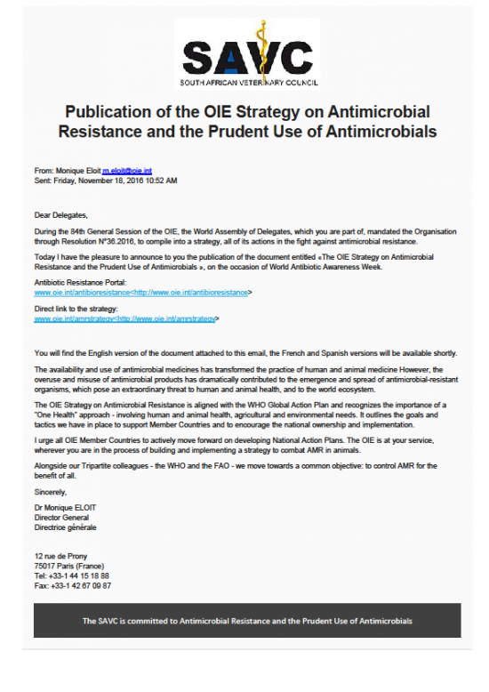 publication-of-the-oie-strategy-on-antimicrobial-resistance-and-the-prudent-use-of-antimicrobials
